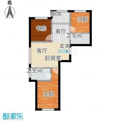 西山林语西山林语户型图C5 105平双卫三居户型