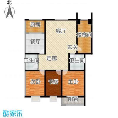 紫祥花园LL户型3室1厅2卫1厨