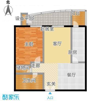 甲方乙方(日月天地)101.80㎡一室两厅一卫户型