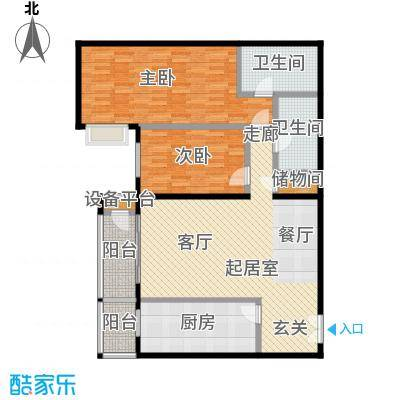 甲方乙方(日月天地)146.71㎡两室两厅两卫户型
