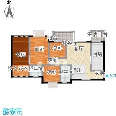 五和苹果国际社区96.00㎡创意四室两厅两卫户型4室2厅2卫