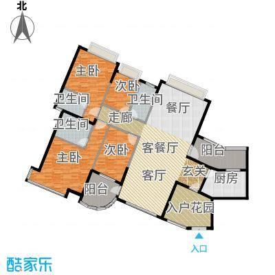 海琴湾150.48㎡3-21层奇数层01单位户型4室1厅3卫1厨