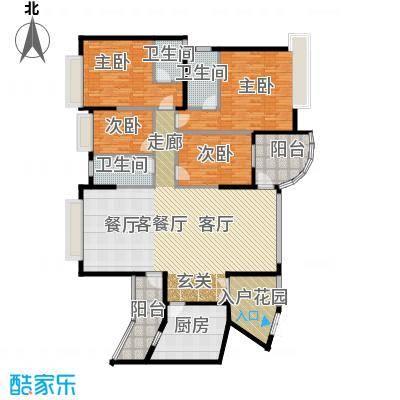 海琴湾148.21㎡3-21层偶数层02单位户型4室1厅3卫1厨