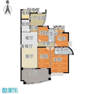 海琴湾168.14㎡3-21层偶数层04单位户型4室1厅3卫1厨