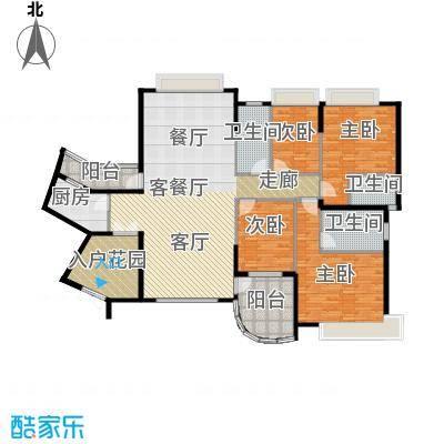 海琴湾148.21㎡3-21层奇数层02单位户型4室1厅3卫1厨