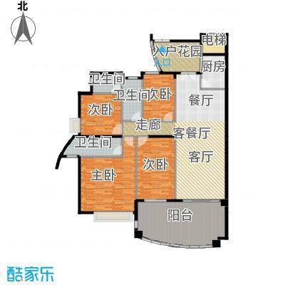 海琴湾168.14㎡3-21层偶数层03单位户型4室1厅3卫1厨