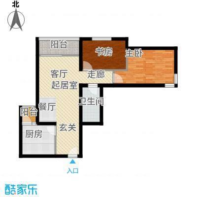首开知语城89.00㎡C-1户型二室二厅一卫户型