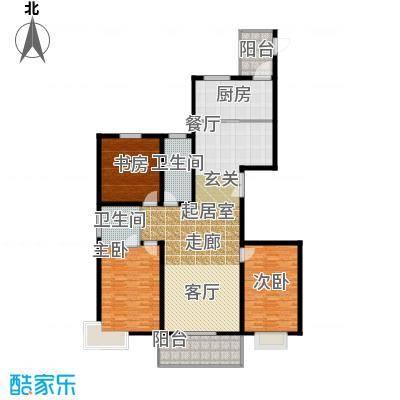 香格里拉174.00㎡香格里拉 户型图 24号楼三室两厅两卫 174平米户型3室2厅2卫