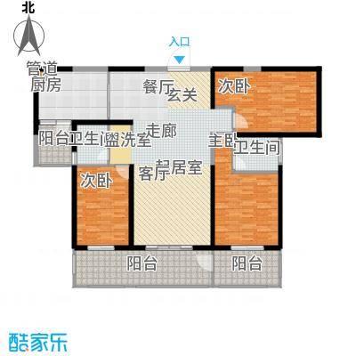 香格里拉159.00㎡香格里拉 户型图 1号楼三室两厅两卫 159平米户型3室2厅2卫