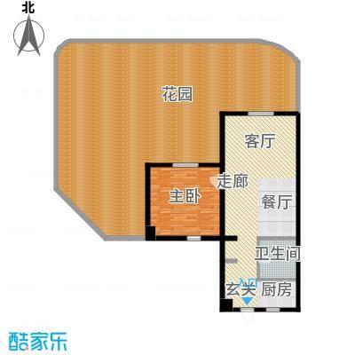 平海・逸龙湾80.00㎡9M型 一房两厅户型1室1厅1卫