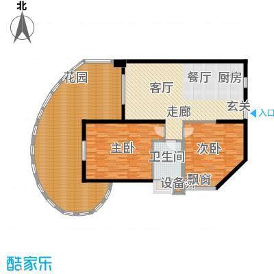 平海・逸龙湾100.00㎡19栋E户型2室2厅1卫