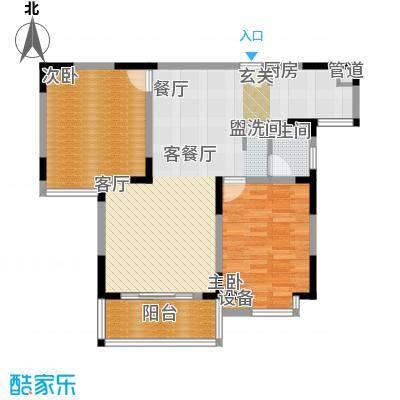丽星景园79.58㎡香02户型