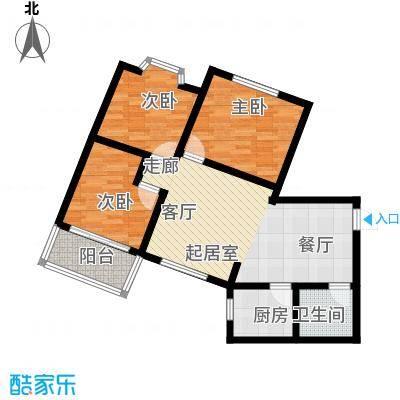 华茂玉龙园97.39㎡户型