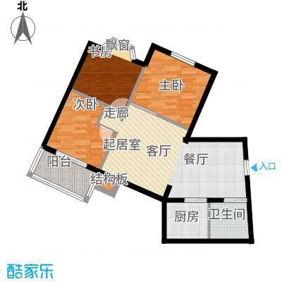 华茂玉龙园74.73㎡户型