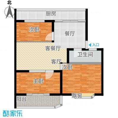 金田苑小区100.00㎡户型