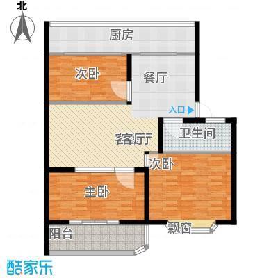 金田苑小区户型3室1厅1卫1厨