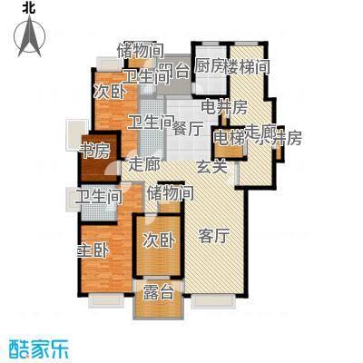天山・汇景园户型4室3卫1厨