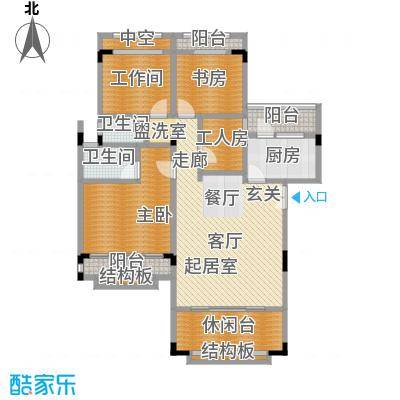 建工未来城一期116.15㎡房型户型