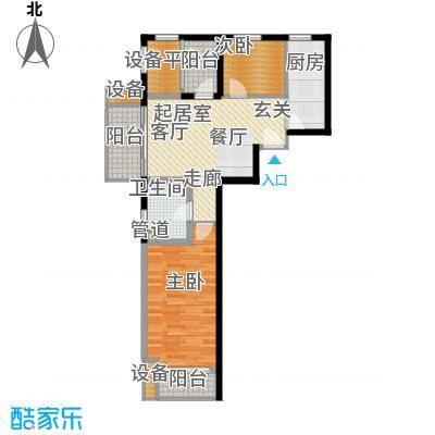 新弘国际阳光城79.48㎡D-3偶数层户型