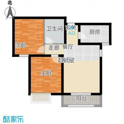壹城公馆80.00㎡一期1、2号楼B户型