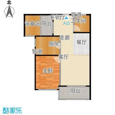 新弘国际阳光城72.28㎡B-2偶数层户型