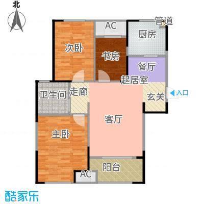 新城公园壹号93.00㎡四期花海D户型