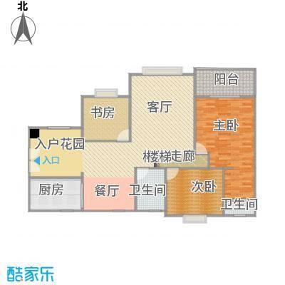 畔山龙庭D栋119.66平方三室两厅户型图(无家具)