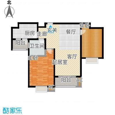 恒大华城天地苑97.77㎡上海面积9777m户型