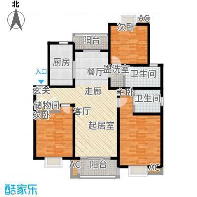恒大华城天地苑122.18㎡上海面积12218m户型
