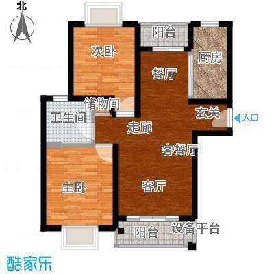 万荣小区75.00㎡面积7500m户型