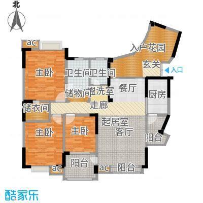 美好家园148.36㎡二期11号楼标准层I3型户型