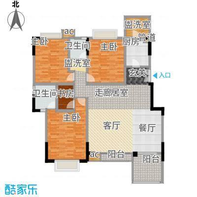 美好家园142.98㎡二期11号楼标准层C型户型