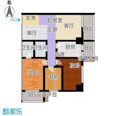 大明宫寓153.31㎡1#楼2单元面积15331m户型