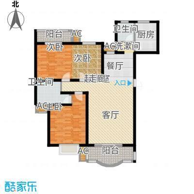 恒盛世家124.96㎡7、11栋N3面积12496m户型
