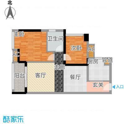 中海橡园国际76.55㎡4栋04单元户面积7655m户型