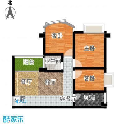 喜洋居82.29㎡01单元3室面积8229m户型