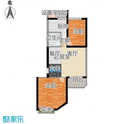 高科新花园95.34㎡1-2号楼Aa面积9534m户型
