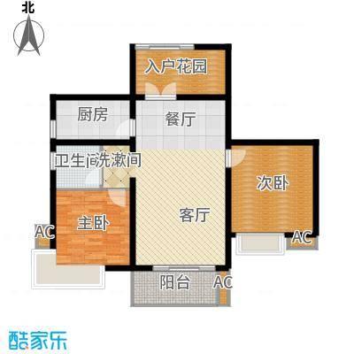 湘江世纪城瑞江苑93.00㎡面积9300m户型