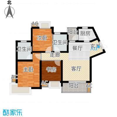 湘江世纪城瑞江苑98.00㎡面积9800m户型