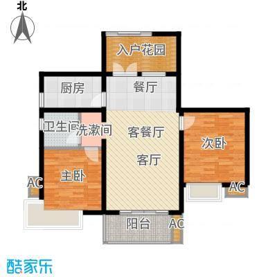 湘江世纪城瑞江苑95.00㎡面积9500m户型
