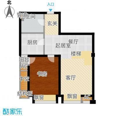 绿岛公寓97.22㎡高层标准层D户型