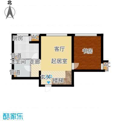 绿岛公寓80.51㎡高层标准层A户型