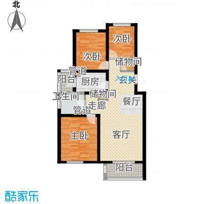 长瀛御龙湾107.00㎡秋水湾标准层面积10700m户型
