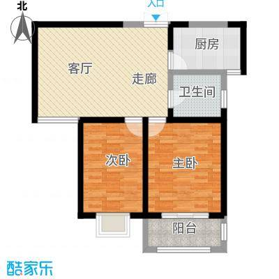 枫景湾家园91.53㎡高层6号楼标准层02户型