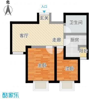枫景湾家园71.42㎡高层3号楼标准层02户型