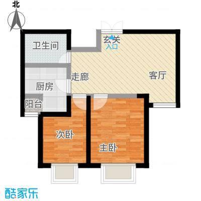 枫景湾家园75.00㎡高层3号楼标准层03户型