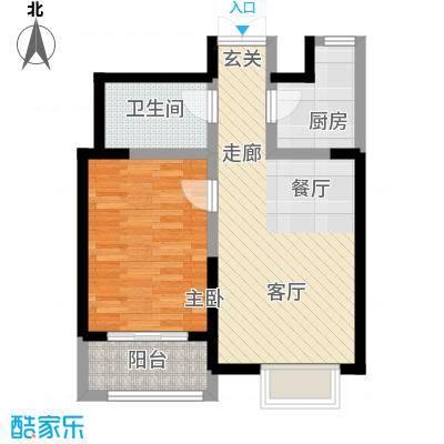 枫景湾家园71.41㎡高层4号楼标准层02户型