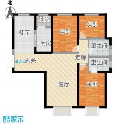 枫景湾家园136.70㎡高层6号楼标准层04户型