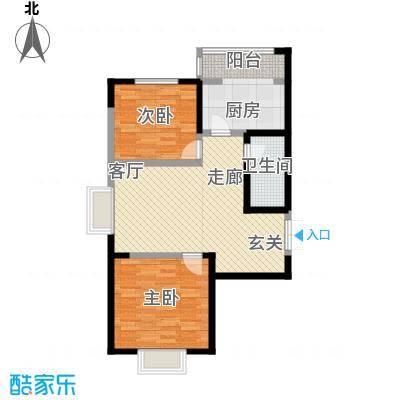 枫景湾家园106.76㎡高层3号楼标准层01户型