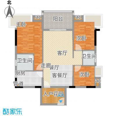金凯盛誉城121.18㎡4栋1单元013室户型